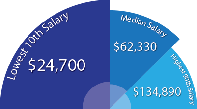 What is the starting pay for a college professor?